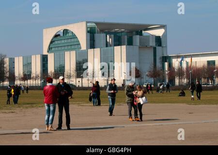 Bundeskanzleramt, Berlin-Tiergarten. - Stock Photo