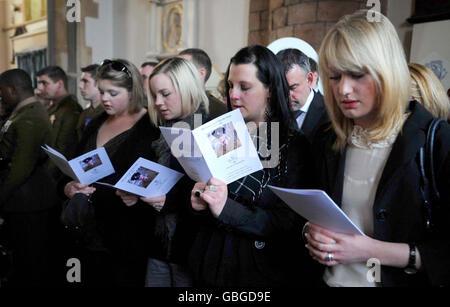 Funeral of Rifleman Jamie Gunn - Stock Photo
