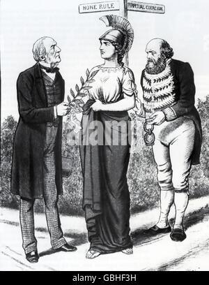 Irish Home Rule Cartoon From Illustrated London News 24