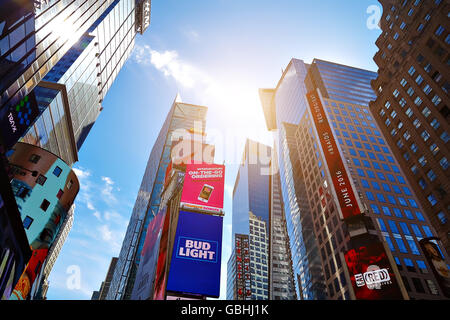 NEW YORK CITY - JUNE 14, 2016: Times Square. Skyscrapers - Stock Photo
