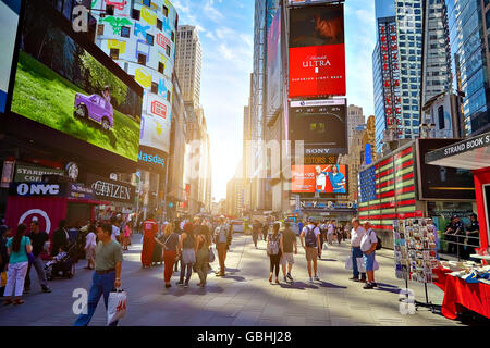 NEW YORK CITY - JUNE 14, 2016: Times Square. USA - Stock Photo