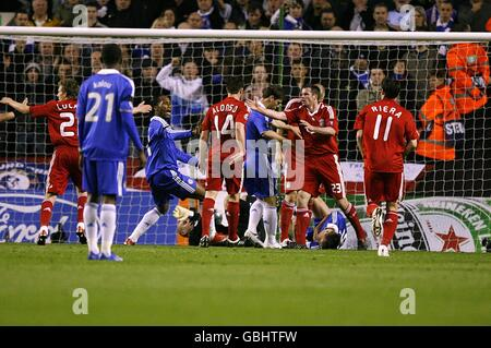 Soccer - UEFA Champions League - Quarter Final - First Leg - Liverpool v Chelsea - Anfield - Stock Photo