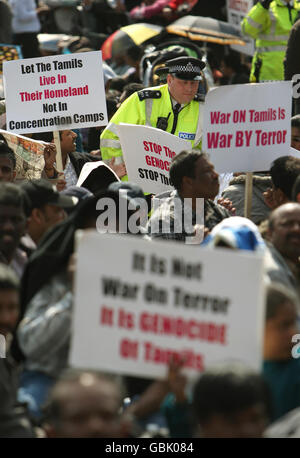 Tamil protesters - Stock Photo
