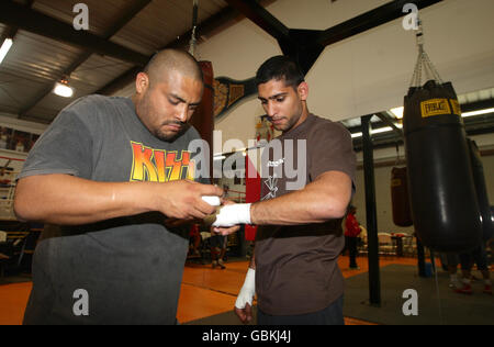 Boxing - Manny Pacquiao Training Session - IBA Gym - Stock Photo
