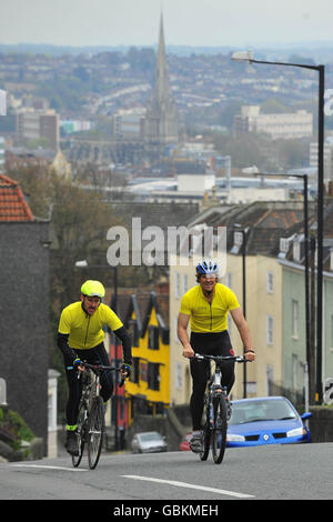 Sparks charity sponsored cycle - Stock Photo