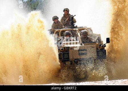 Armoured vehicle fleet ordered by MoD - Stock Photo