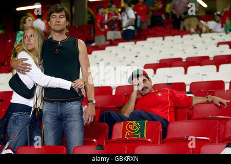 Soccer - UEFA European Championship 2004 - Final - Portugal v Greece. Dejected Portugal fans