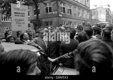 British Politics - Strikes - Dock Workers Strike - London - 1972 - Stock Photo