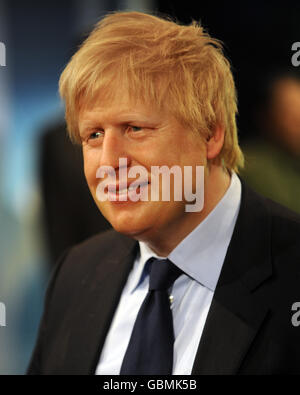 Boris Johnson Madame Tussauds Waxwork - London - Stock Photo