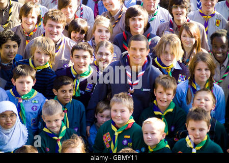 Bear Grylls named youngest chief Scout - Stock Photo