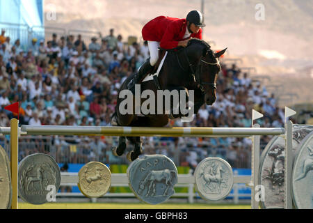 Equestrian - Athens Olympic Games 2004 - Jumping - Individual Round A - Stock Photo