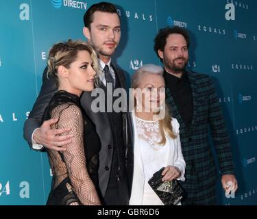 Los Angeles, CA, USA. 7th July, 2016. Kristen Stewart, Nicholas Hoult, Jacki Weaver, Drake Doremus at arrivals for - Stock Photo