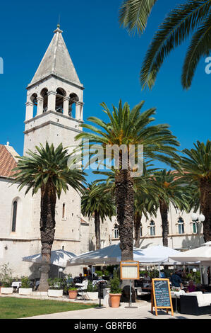 Dominican convent, Old town, Trogir, Split-Dalmatia County, Croatia - Stock Photo