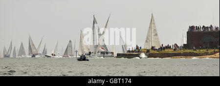 Sailing - Round The Island Race - Isle of Wight - Stock Photo