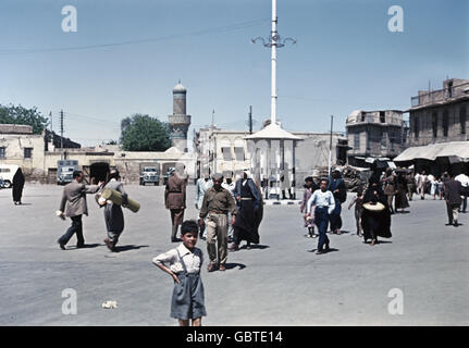 geography / travel, Iraq, Baghdad, street scene, busy square, 1955, Additional-Rights-Clearences-Not Available - Stock Photo
