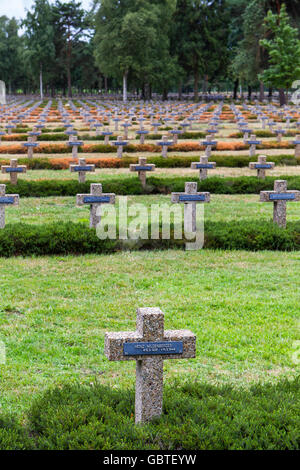 german first world war soldiers cemetery belgium - Stock Photo