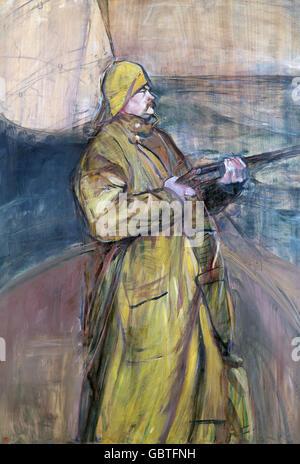 fine arts, Toulouse-Lautrec, Henri de (1864 - 1901), painting 'M. Maurice Joyant', Museum Albi,