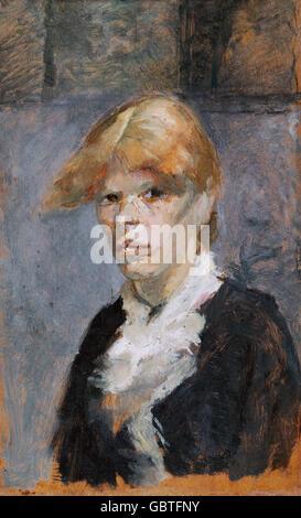 fine arts, Toulouse-Lautrec, Henri de (1864 - 1901), painting, 'Carmen la Rousse', 1885, Museum Albi,