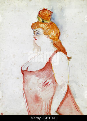 fine arts, Toulouse-Lautrec, Henri de (1864 - 1901), painting, 'Cocyte dans la Belle Helene' (Cocyte in The Beautiful - Stock Photo
