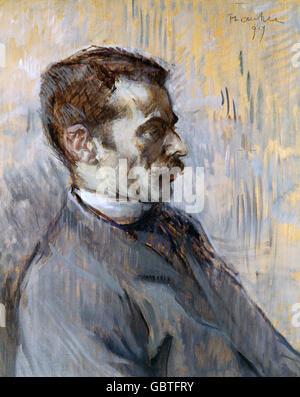 fine arts, Toulouse-Lautrec, Henri de (1864 - 1901), painting, 'Mon Gardien' (My Caretaker), 1899, Museum Albi,