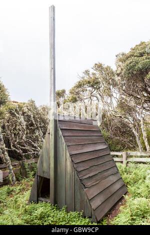 The historic Stella Hut depot Enderby Island, Auckland Islands, New Zealand - Stock Photo