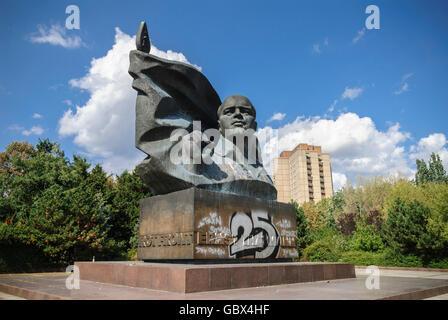 Berlin. Germany. Monument to former Communist party leader Ernst Thälmann (1886-1944), in Prenzlauer Berg. - Stock Photo