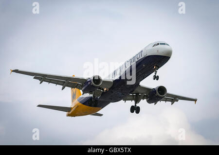 Monarch Airlines Airbus A321-231 - Stock Photo