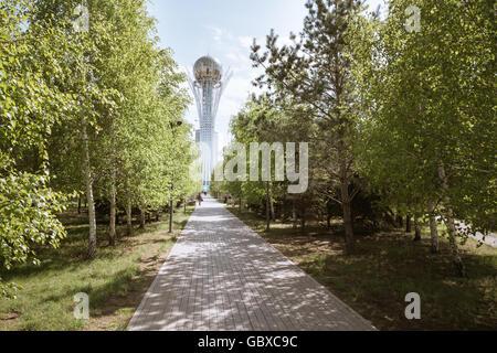 Evening in Astana city, Kazakhstan, Central Asia - Stock Photo