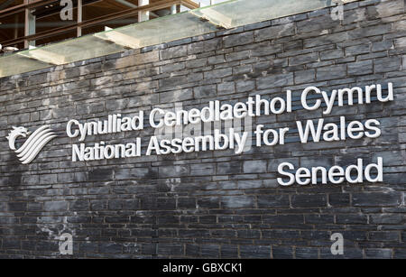 Senedd Welsh National Assembly for Wales building, Cardiff Bay, UK - Stock Photo