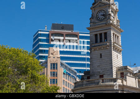 Auckland civic centre, town hall and MLC building, New Zealand - Stock Photo