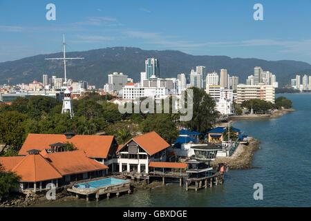 Georgetown skyline, Penang, Malaysia - Stock Photo