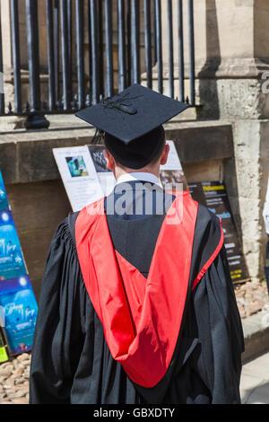 England, Oxfordshire, Oxford, Graduation Gown Stock Photo: 281807299 ...