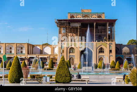 Ali Qapu Palace on Naqsh-e Jahan Square in Isfahan, Iran - Stock Photo