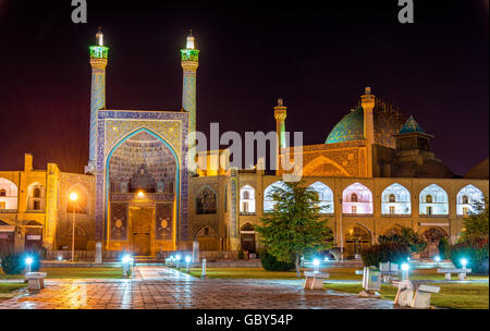 View of Shah (Imam) Mosque in Isfahan - Iran - Stock Photo