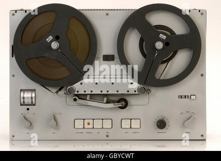technics, tape recorders, tape recorder Braun TG 60, stereo, loaded with transistors, 1964, 1960s, 60s, 20th century, - Stock Photo