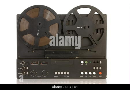 technics, tape recorders, Hi-Fi-Stereo tape recorder Braun TG 1000, with transistors, 1972, 1970s, 70s, 20th century, - Stock Photo