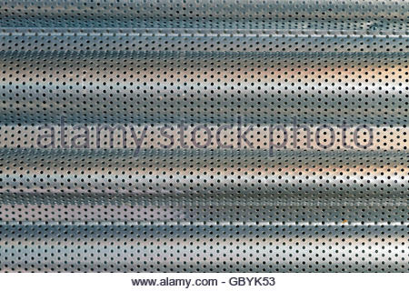 Steel sheet perforated - Stock Photo