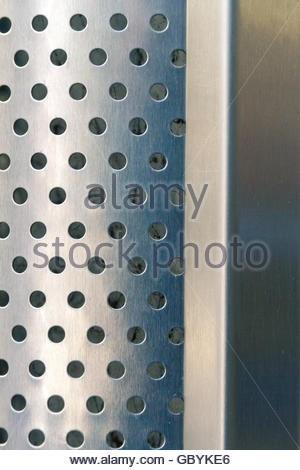 Steel sheet perforated with smooth suface - Stock Photo