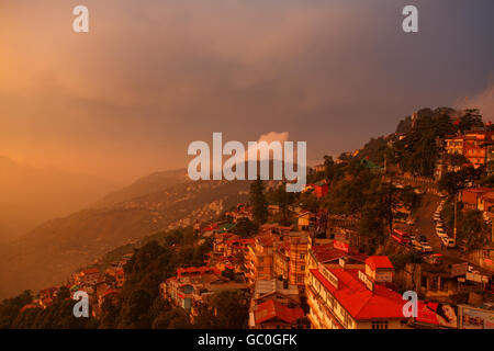 Awesome View of Shimla during Sunset - Stock Photo
