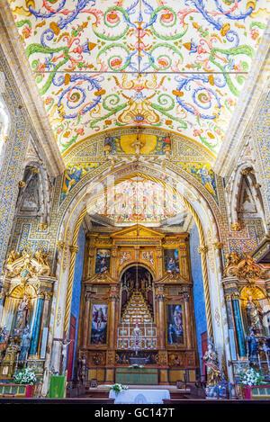 Capela de Sao Miguel chapel of University of Coimbra. Portugal. - Stock Photo