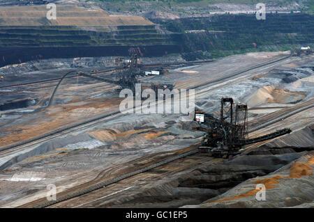 Hambach surface lignite mine Elsdorf, North Rhine-Westphalia, Germany. - Stock Photo