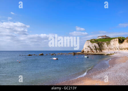 Isle of Wight, Freshwater Bay, Hampshire, England, UK - Stock Photo