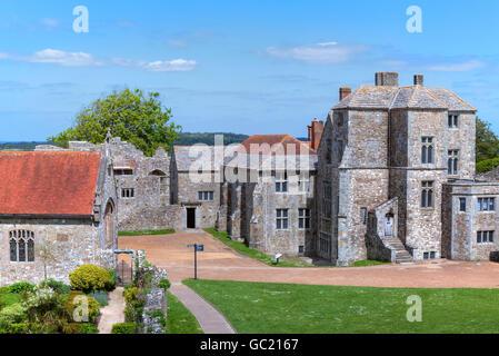 Carisbrooke Castle, Isle of Wight, England, UK - Stock Photo
