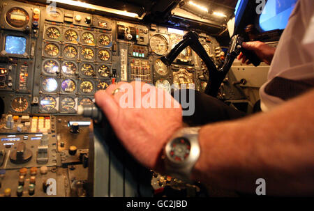 Concorde simulator opening - Stock Photo