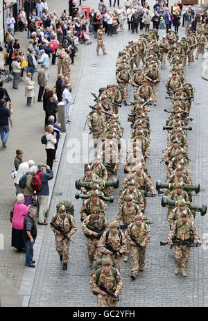 1st Battalion The Royal Welsh deployment to Afghanistan - Stock Photo