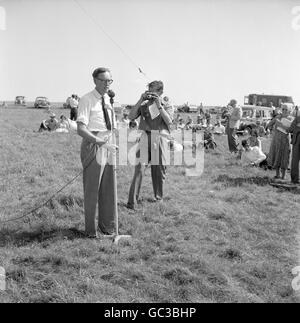 Politics - Association for the Restoration of Imber Rally - White Horse Hill - Stock Photo