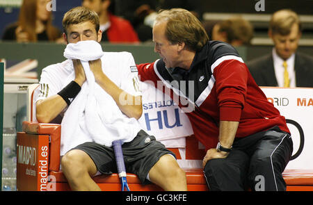 Tennis - Davis Cup - Great Britain v Poland - Day Three - Echo Arena - Stock Photo