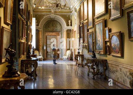 Rome. Italy. Palazzo Corsini, Galleria Nazionale d'Arte Antica, (National Gallery of Antique Art), Trastevere. - Stock Photo