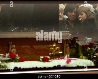 Neve Lafferty funeral - Stock Photo