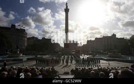 Trafalgar Day Parade - Stock Photo